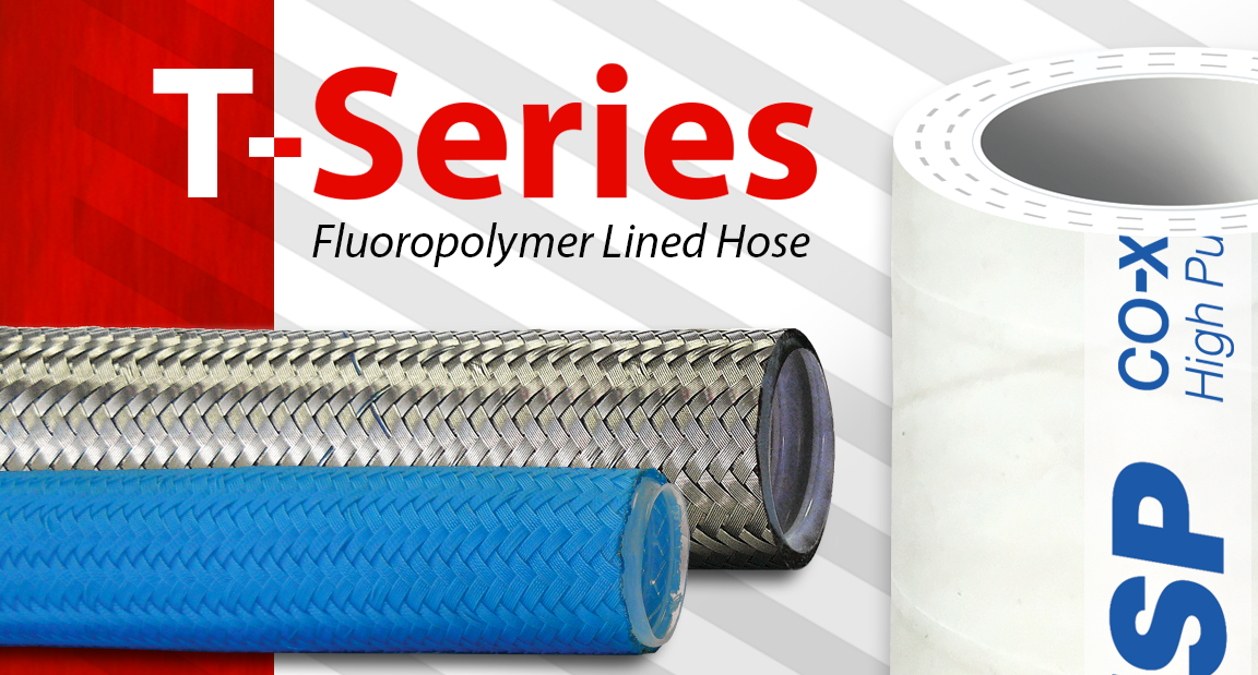 Ace Sanitary | T-Series Fluoropolymer Lined Hose